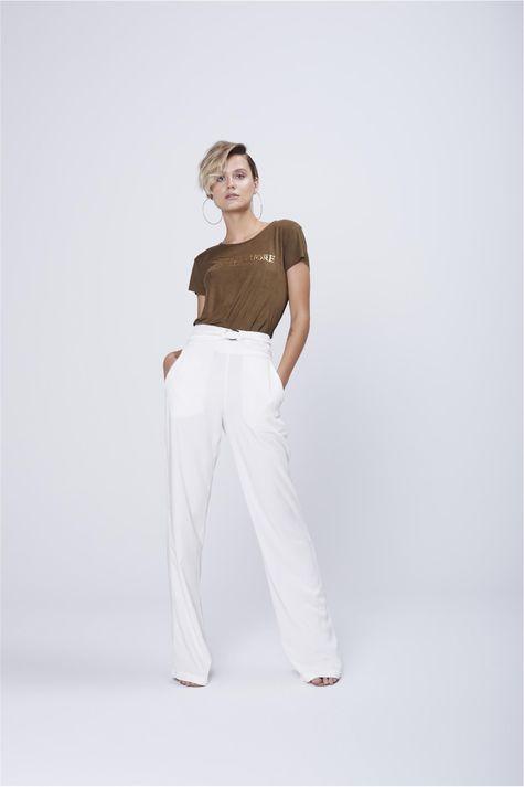 5261c675b Calca-Pantalona-Branca-com-Cintura-Alta-Frente--