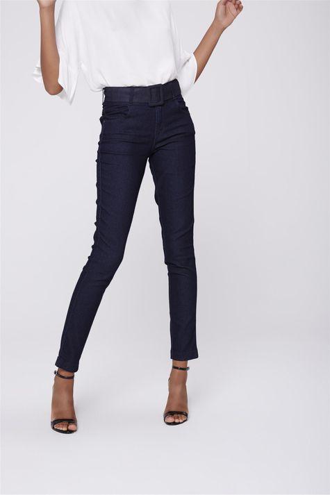 Calca-Cigarrete-Feminina-com-Cinto-Jeans-Frente--