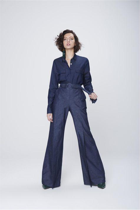 Calca-Pantalona-Jeans-com-Cinto-Feminina-Frente--