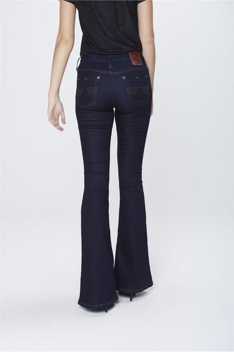 Calca-Flare-Jeans-Escuro-Feminina-Costas--