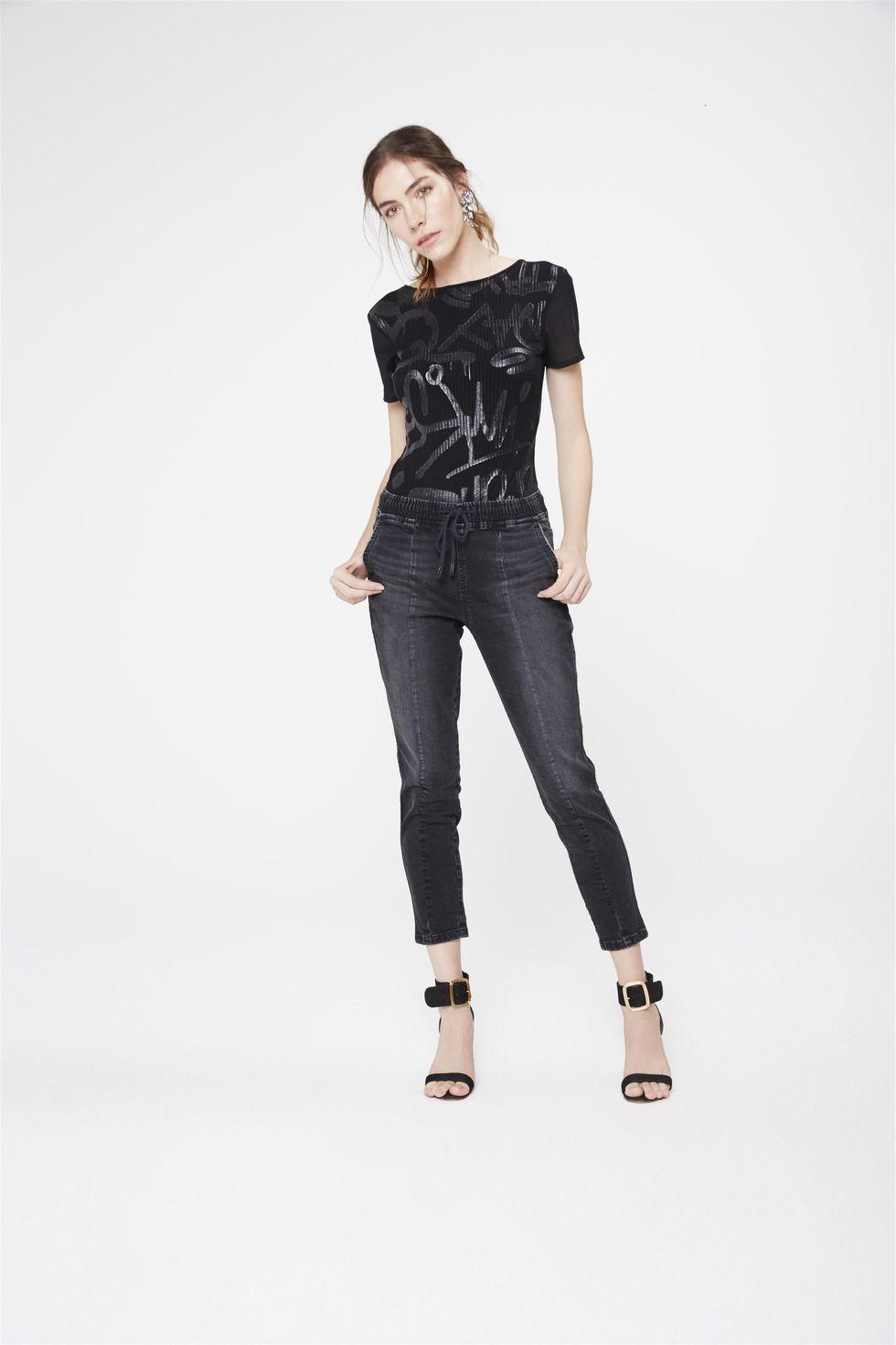 Calca-Jogger-Jeans-Preta-Feminina-Frente--