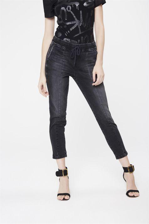 Calca-Jogger-Jeans-Preta-Feminina-Frente-1--