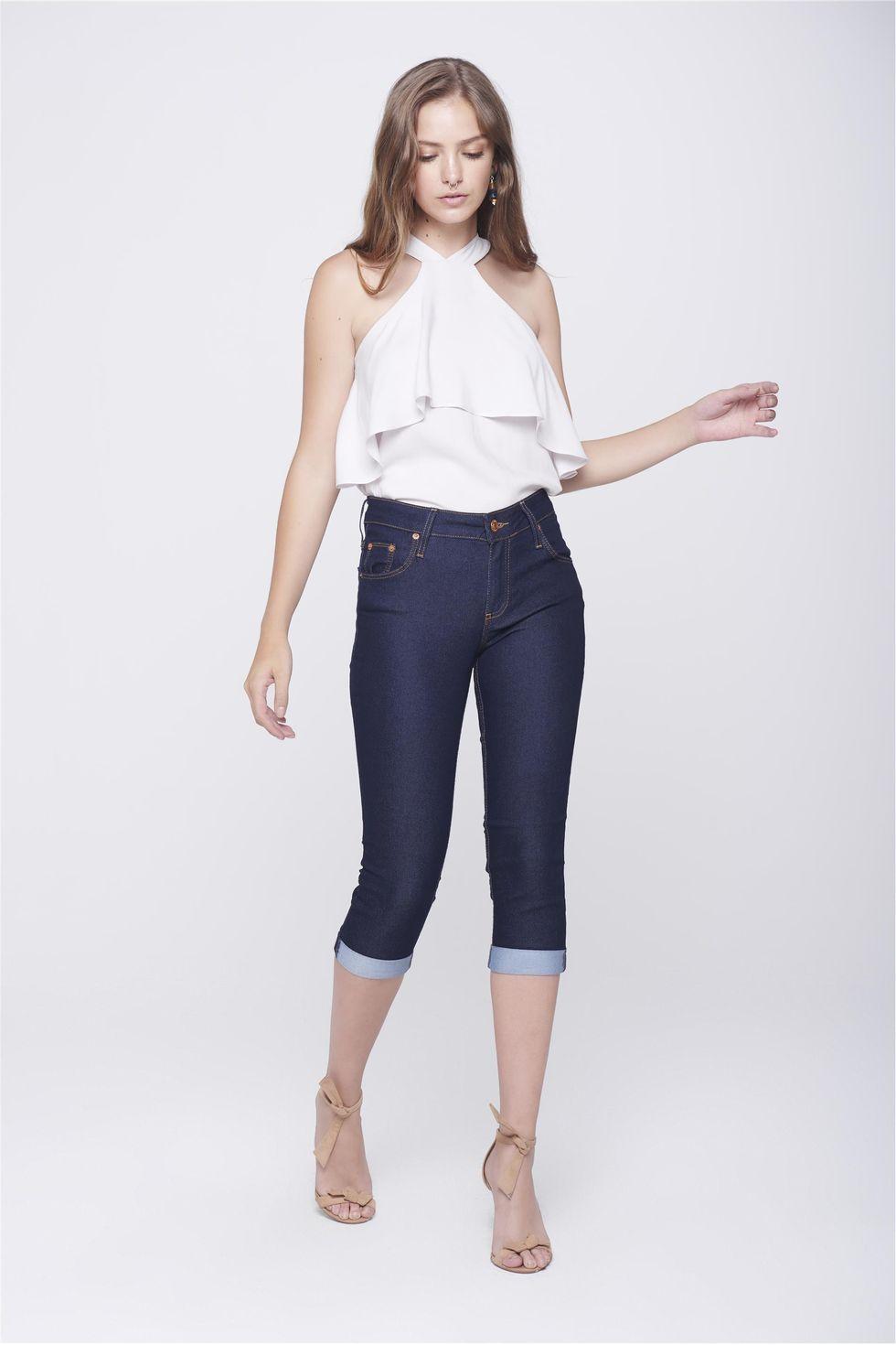 Calca-Capri-Jeans-Feminina-Barra-Dobrada-Frente--