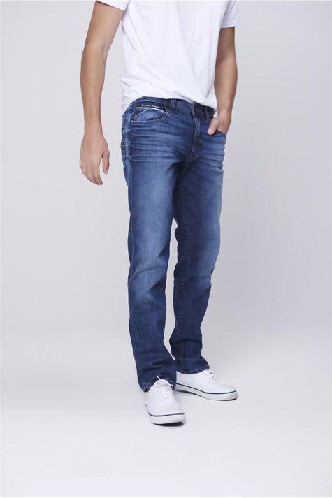 Calca-Jeans-Justa-Relevo-Bolso-Masculina-Frente-1--