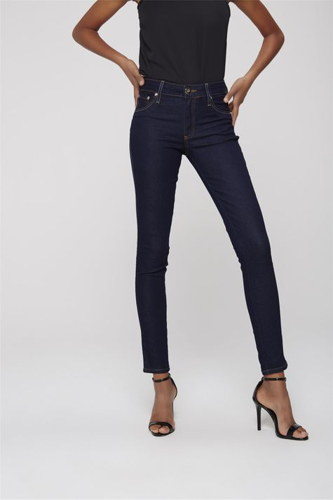 Calca-Cigarrete-Jeans-Escuro-Feminina-Frente-1--