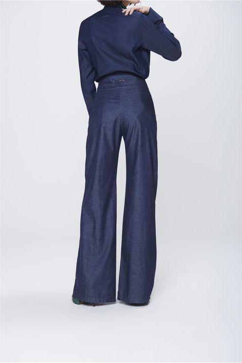 Calca-Pantalona-Jeans-com-Cinto-Feminina-Costas--