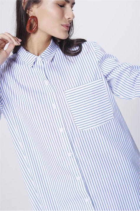Camisa-Listrada-Feminina-Detalhe--