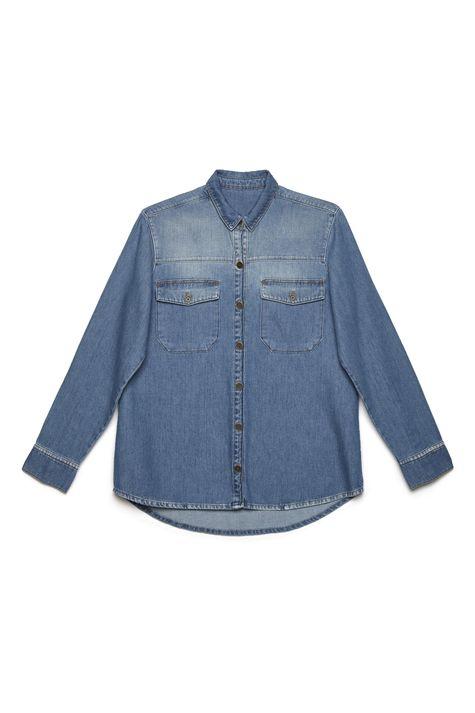 Camisa-Jeans-com-Bolsos-Feminina-Detalhe-Still--
