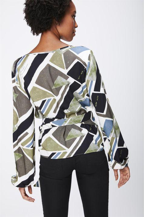 Camisa-Estampada-com-Transpasse-Feminina-Costas--