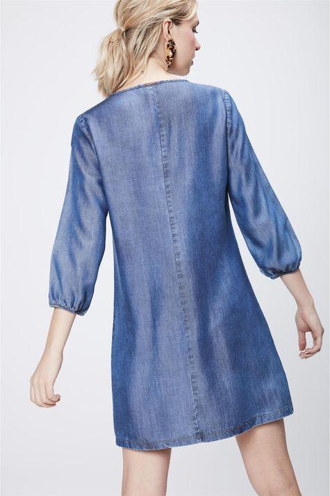 Vestido-Estampado-Jeans-com-Manga-3-4-Costas--