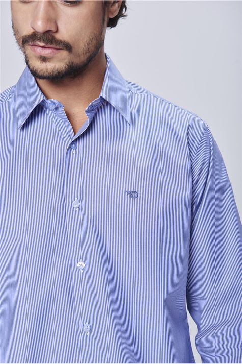 dbc2007ae764 Camisa Social Listrada Algodão Peruano - Damyller