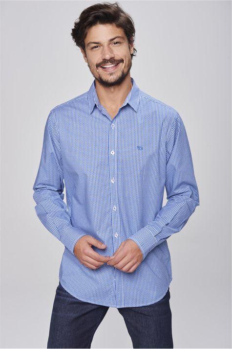 Camisa-Social-Xadrez-Azul-Branco-Frente--