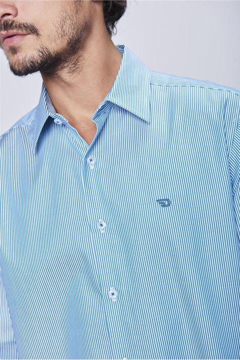 d775700866a1 ... Camisa-Social-Listrada-Masculina-Detalhe-- ...