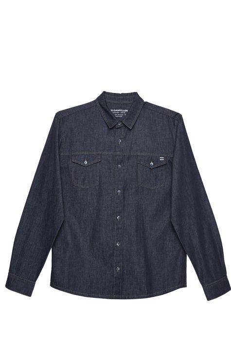Camisa-Jeans-Escuro-Masculina-Detalhe-Still--