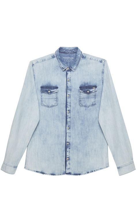 Camisa-Jeans-Claro-Masculina-Detalhe-Still--