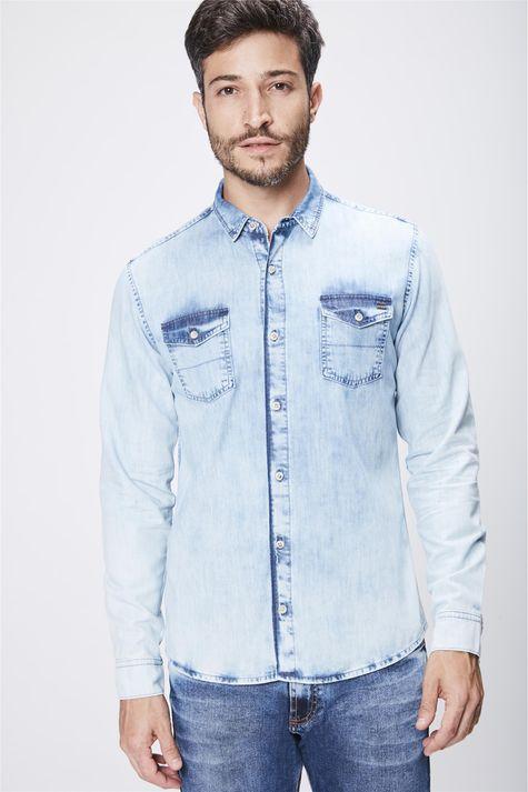 Camisa-Jeans-Claro-Masculina-Frente--