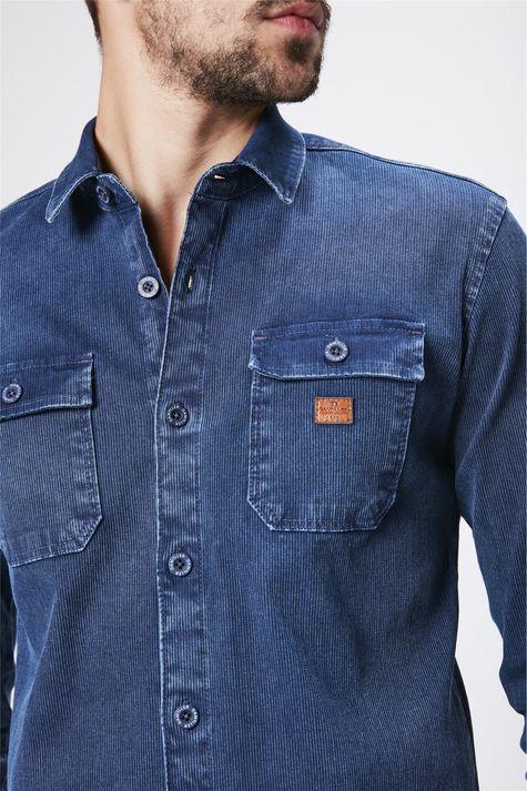 18641a8ae3b61 ... Camisa-em-Denim-Canelado-Masculina-Detalhe-- ...