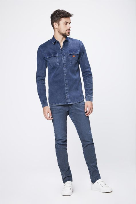Camisa-em-Denim-Canelado-Masculina-Detalhe-1--