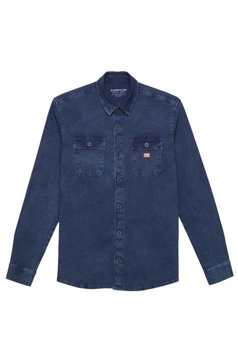 Camisa-em-Denim-Canelado-Masculina-Detalhe-Still--