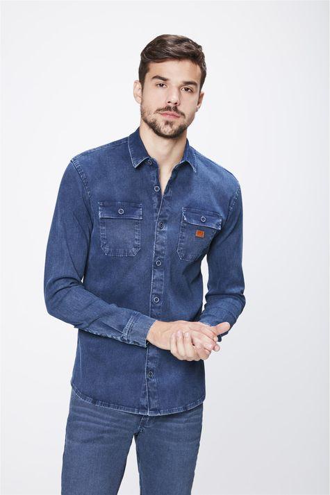 Camisa-em-Denim-Canelado-Masculina-Frente--