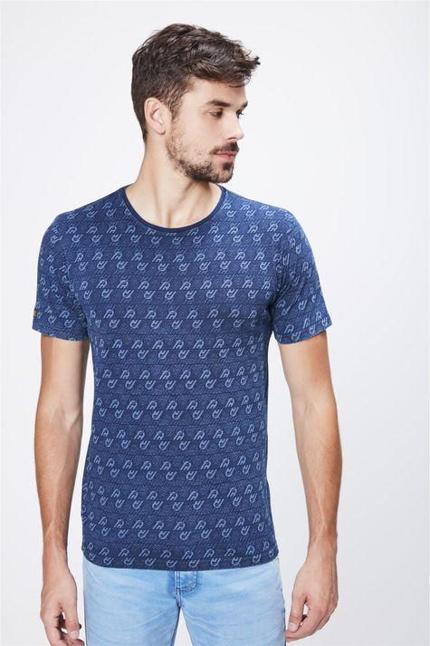 9a2bd30c5 Camiseta com Print de Repetições