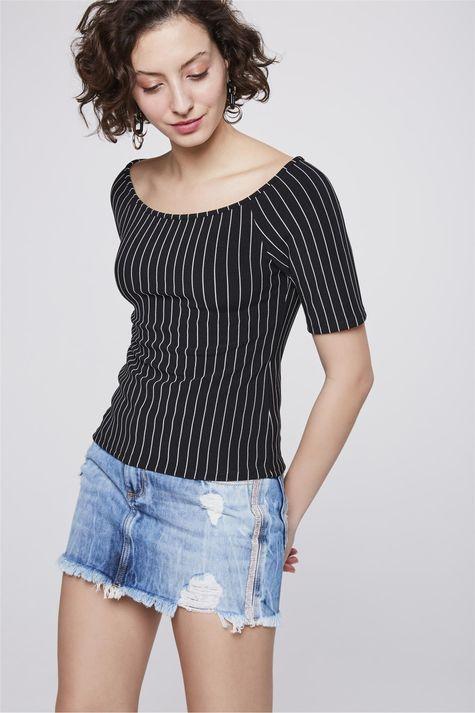 787960e1fd Moda Feminina - Blusas - Top Preto Branco – Damyller