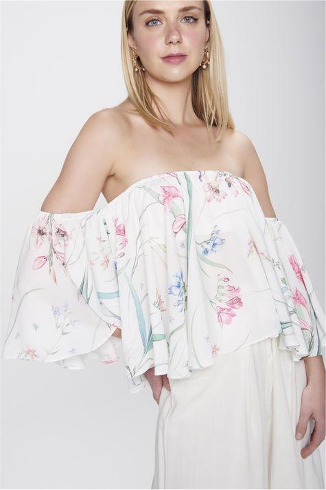 Blusa-Cropped-Ombro-a-Ombro-Floral-Frente--