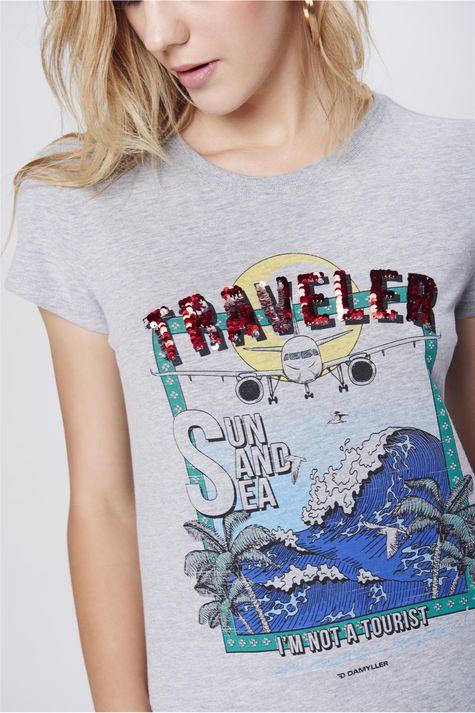 Camiseta-Malha-Mescla-Estampada-Feminina-Detalhe--