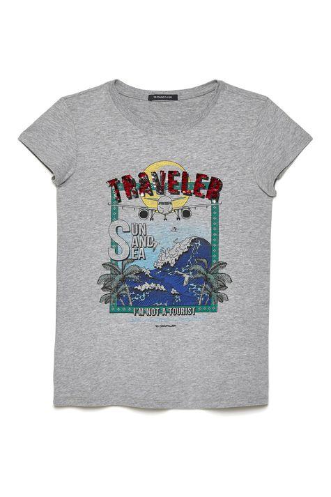 Camiseta-Malha-Mescla-Estampada-Feminina-Detalhe-Still--