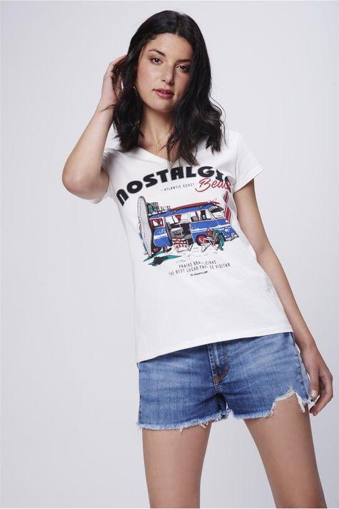 Camiseta-Decote-V-Estampa-Beach-Feminina-Frente--