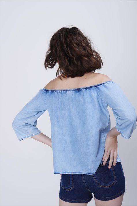 Bata-Feminina-Ombro-a-Ombro-Jeans-Costas--
