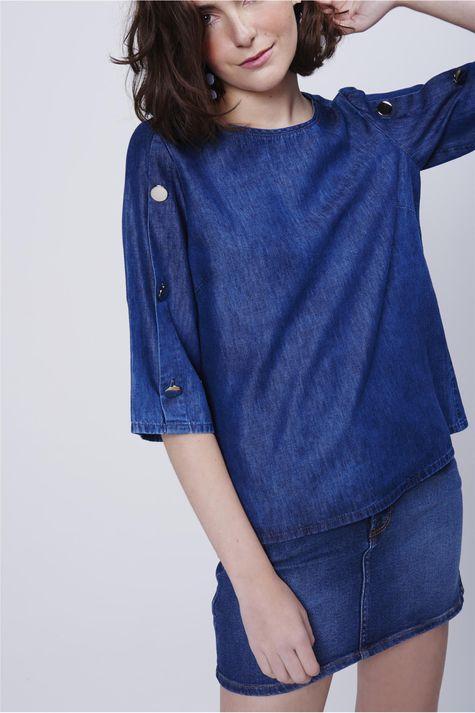 Blusa-Feminina-Jeans-Botoes-Manga-Detalhe--