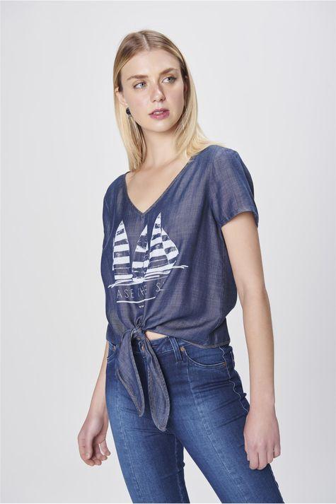 Camiseta-Jeans-com-Amarracao-Feminina-Frente--