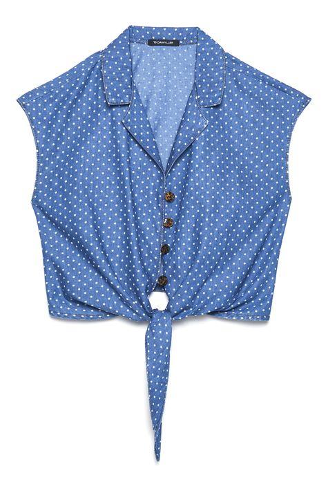 Camisa-Jeans-de-Poa-com-Amarracao-Detalhe-Still--