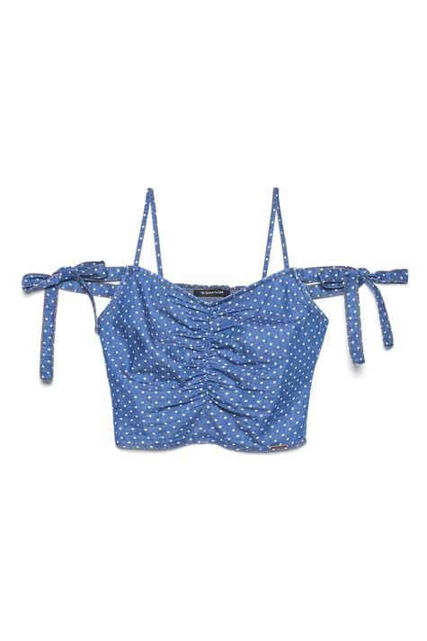 Blusa-Cropped-Jeans-de-Poa-Feminina-Frente--