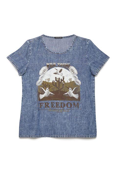 Camiseta-Feminina-Jeans-Estampa-Freedom-Detalhe-Still--
