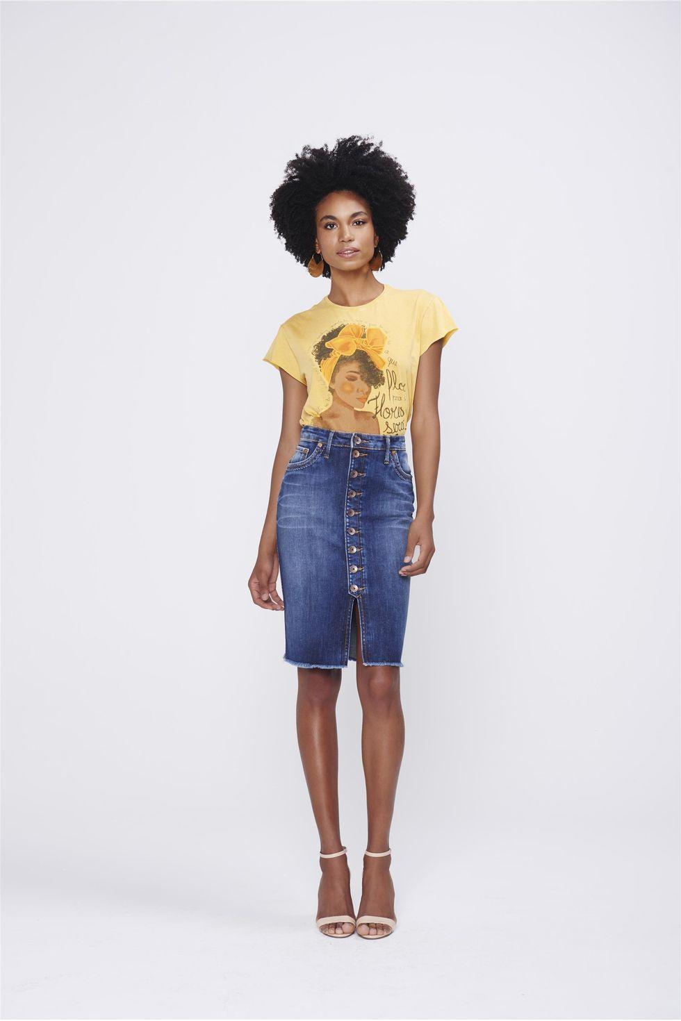 Saia-Secretaria-Jeans-com-Abotoamento-Frente--