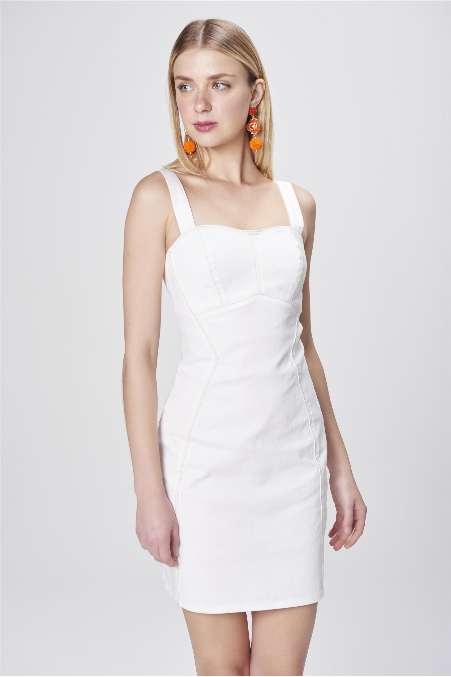 ddcd4e820 Vestido Color com Recortes - Damyller