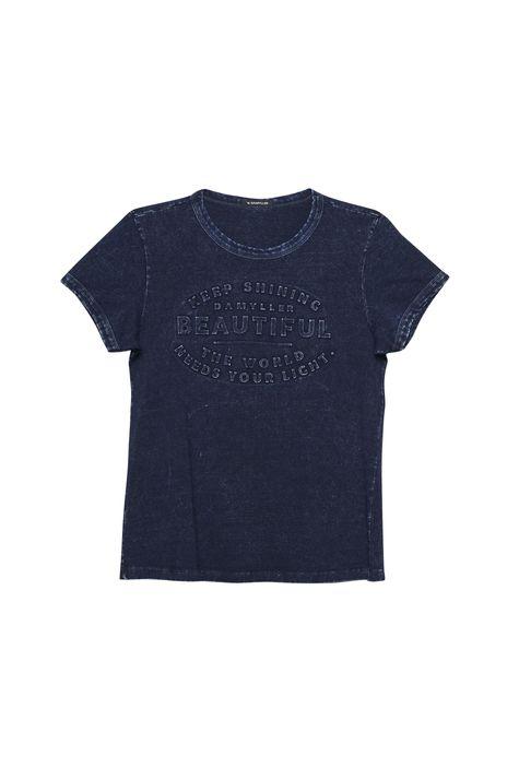 Camiseta-Feminina-em-Malha-Denim-Detalhe-Still--