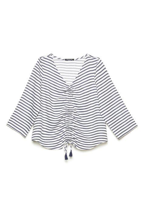 Blusa-Listrada-com-Franzido-Frontal-Frente--
