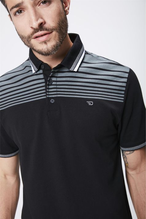 Camisa-Polo-Preta-Masculina-Detalhe--