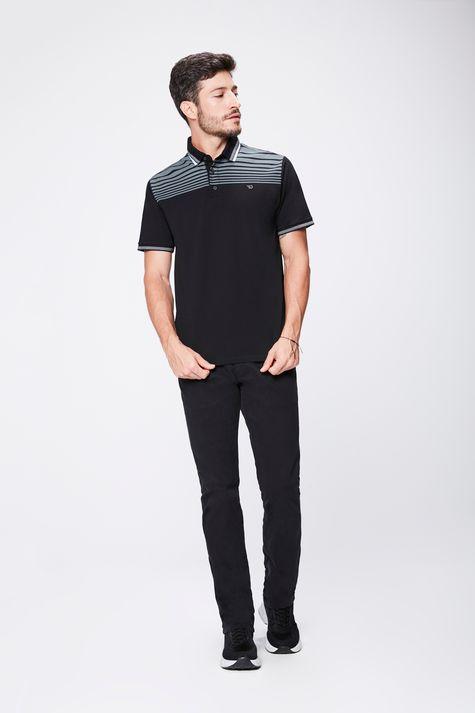 Camisa-Polo-Preta-Masculina-Detalhe-1--