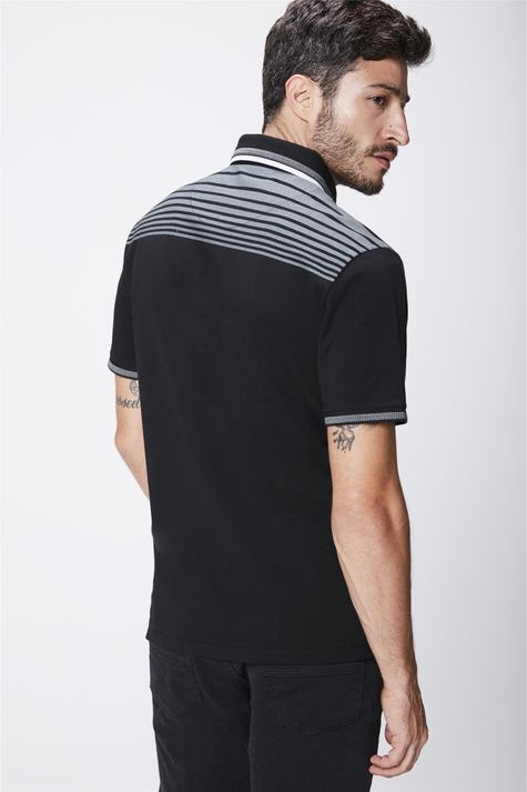 Camisa-Polo-Preta-Masculina-Costas--