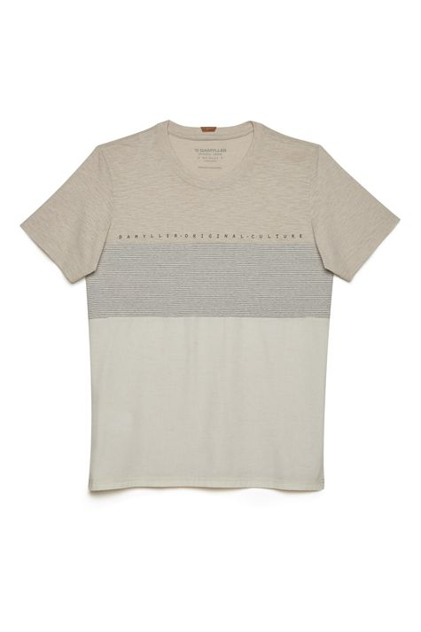 Camiseta-Masculina-Mistura-de-Tecidos-Detalhe-Still--