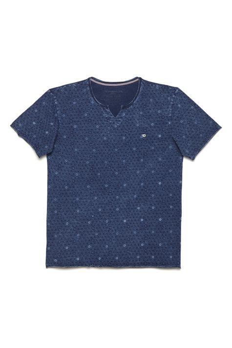 Camiseta-Malha-Indigo-Estampa-Repeticao-Detalhe-Still--