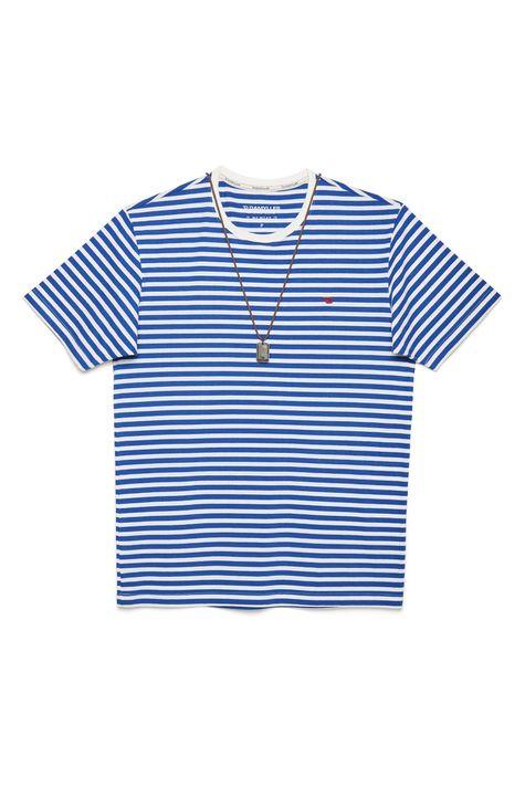 Camiseta-Listrada-com-Colar-Masculina-Detalhe-Still--