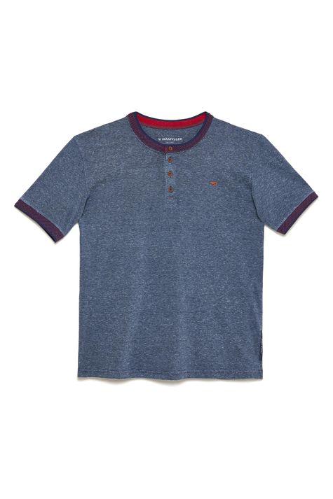 Camiseta-College-com-Botoes-Masculina-Detalhe-Still--