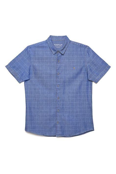 Camisa-Jeans-Xadrez-Masculina-Frente--