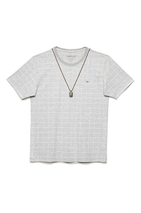 Camiseta-Cinza-Mescla-com-Estampa-Xadrez-Detalhe-Still--