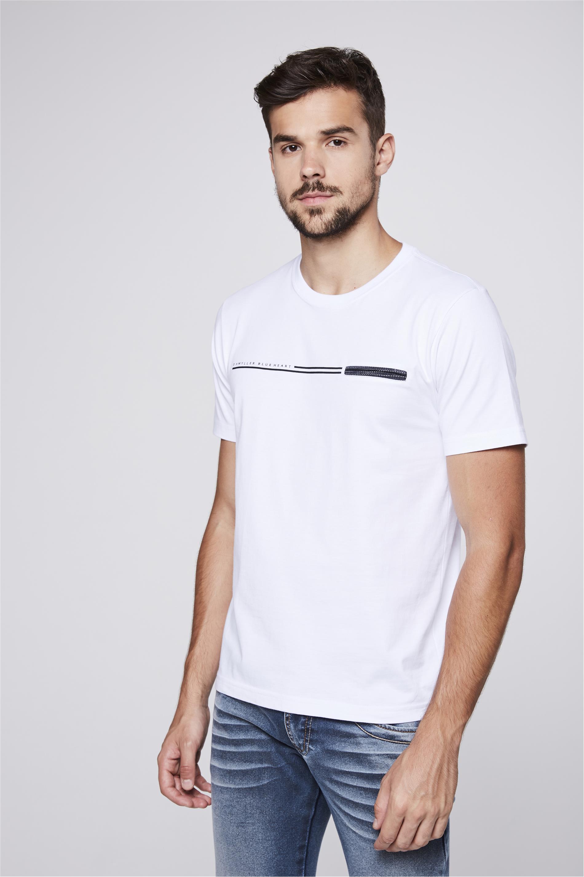 3c7bb92a01 Camiseta Básica com Bolso Masculina - Damyller